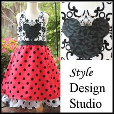 Girls Disney Minnie Mouse Princess formal dinner party cruise dress sizes 2 3 4 5 6 7 8 9 10