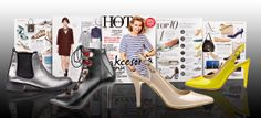 W majowym wydaniu miesięcznika HOT MODA zaprezentowano m.in. najmodniejsze dodatki sezonu! Wśród nich nie zabrakło wybranych modeli obuwia marki Wojas: czarnych szpilek (4791-51), które wyróżniono w stylizacjach inspirowanych lookiem z pokazu Yves Saint Laurent. Styliści magazynu polecają również modne czółenka w odcieniu nude i w żółtym kolorze (4422-34/38) oraz srebrne sztyblety - Hot Hit wśród obuwia w metalicznych barwach (4557-69).