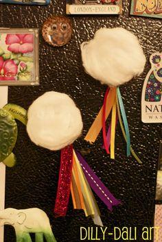 Dilly-Dali Art: Weather Blog Hop {Bottle Cap Rainbow Magnet}