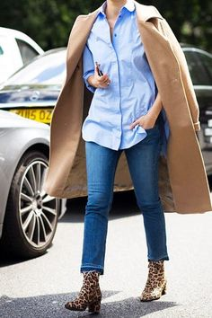 How to Wear Ankle Boots with Jeans via @PureWow