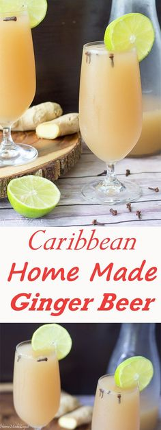 Homemade Ginger Beer An easy recipe to make this refreshing ginger drink that is popular in the Caribbean especially around Christmas time Refreshing Drinks, Summer Drinks, Fun Drinks, Healthy Drinks, Beverages, Drinks Alcohol, Holiday Drinks, Holiday Ideas, Healthy Food