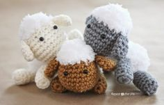 L is for Lamb: Crochet Lamb Applique - Repeat Crafter Me