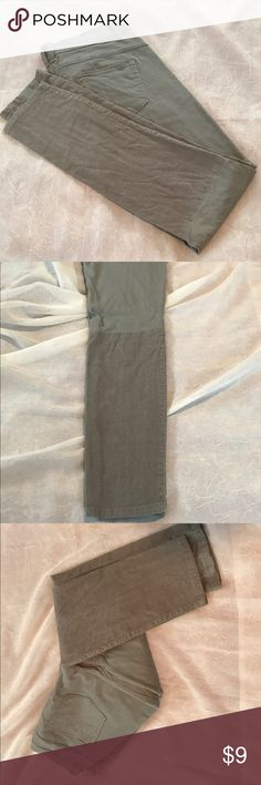 "Grey pants Bottom part of pants are corduroy. 30"" inseam. New York & Company Pants Skinny"