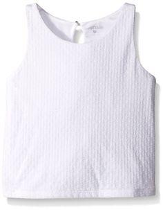 Amazon.com: Kensie Girls' Textured Knit Crop Tank Top: Clothing