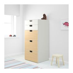 STUVA Opberger met lades - wit/berken - IKEA