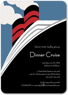 Email Save to Favorites Corporate Event Invitations Cruise Ship - Front : Moonstruck Zoom in Card Panels Front Back Additional Layouts Corporate Event Invitations Cruise Ship : Moonstruck Designed by Sarah Hawkins Designs for Tiny Prints Cruise Theme Parties, Cruise Ship Party, Party Themes, Party Ideas, Cruise Ships, Theme Ideas, Boat Theme, Photo Deco, Love Boat