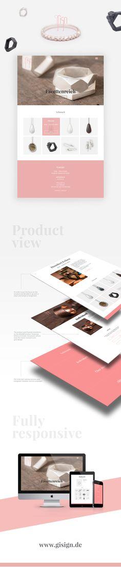 #Webdesign for Regine Keppler, a #jewellery designer resident in Tübingen, Germany.