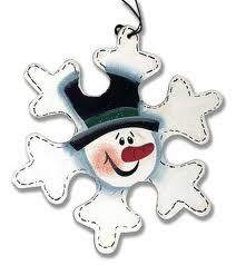 Primitive Wood Snowflake Snowman Ornament - Snow - Snowflakes - Glitter - Christmas and Winter - Holiday Crafts Wood Snowflake, Snowflake Ornaments, Snowman Ornaments, Snowman Wreath, Christmas Wood, Christmas Snowman, Christmas Ornaments, Christmas Trees, Painted Ornaments