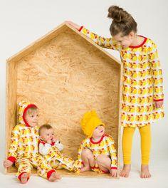 Lastenvaatteet - Metsola: Pupu Tupuna (Birthday) mekko LS (62/68 - 134/140 cm) - Lasten Metsola Oy verkkokauppa - Lasten vaatteet