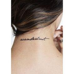 wanderlust tattoo pulso - Pesquisa Google