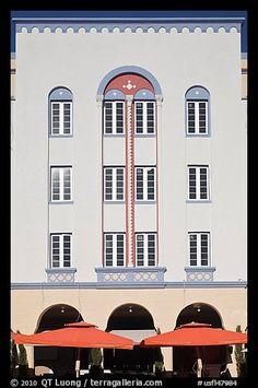Art Deco hotel facade, Miami Beach. Florida, USA