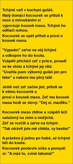 Tchýně vaří v kuchyni guláš... | torpeda.cz - vtipné obrázky, vtipy a videa Good Jokes, Funny Jokes, Jokes Quotes, Memes, Useful Life Hacks, Adult Humor, Funny Moments, Monday Motivation, Picture Quotes