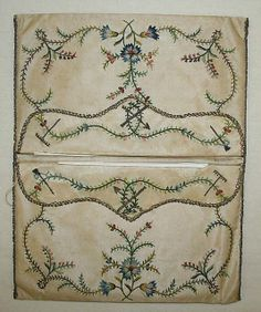 Purse Date: late 18th century Culture: French Medium: silk, metal Dimensions: Length: 6 1/2 in. (16.5 cm) Credit Line: Gift of Catharine Oglesby, 1959 Accession Number: C.I.59.30.2