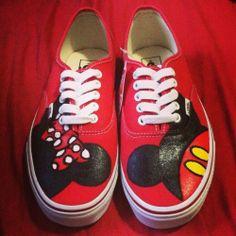 Vans Custom Mickey & Minnie Disney Shoes