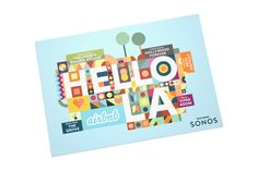Airbnb + Sonos 'Hello LA' on Behance