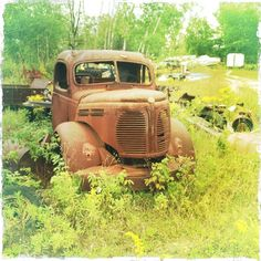 Even old, rusted cars are cool. This was taken at a junk yard in Northern Michigan.