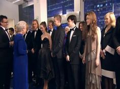 Georgie Henley meets Queen Elizabeth at the Narnia: Voyage of the Dawn Treader premiere in London