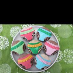 Roller derby cupcakes.