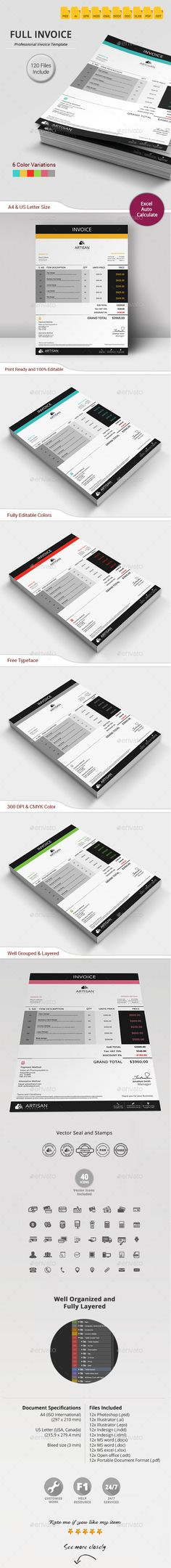 Invoice Template Invoice layout, Business proposal and Proposal - Website Invoice