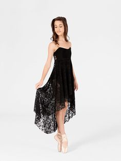 Adult High-Low Lace Camisole Dress by NATALIE - $51.95. Lovely costume for a contemporary ballet piece.