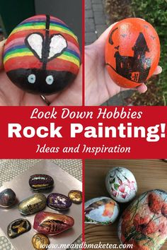 Rock Painting Ideas for Lockdown Hobbies - ideas and inspiration for rock painting this summer, during lockdown. Grab your paints, pencils and pens and grab some inspiration. You can use rocks, pebbles, stones, wood, tiles. We paint and we also decoupage.   #rockpainting #rockpaintingideas Activities For Kids, Crafts For Kids, Thing 1, Rock And Pebbles, All Themes, Group Boards, Parenting Hacks, Simple Designs, Painted Rocks
