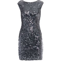 STEFFEN SCHRAUT Long Cut Sparkle Anthra // Sequined mini dress with... ($200) ❤ liked on Polyvore featuring dresses, vestidos, short dresses, robes, long sparkly dress, cutout dresses, cap sleeve cocktail dress, short sparkly dresses and long-sleeve mini dress