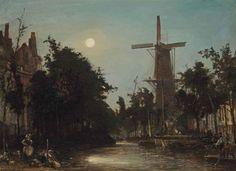 Artwork by Johan Barthold Jongkind, Lavandières au bord du canal, près de Rotterdam, 1856 Made of oil on canvas
