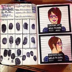 use this but have diff family member and friends fingerprint and use pics as there mug shots