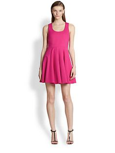 Flared Ponte Dress($57.00) 80% Off #dresses
