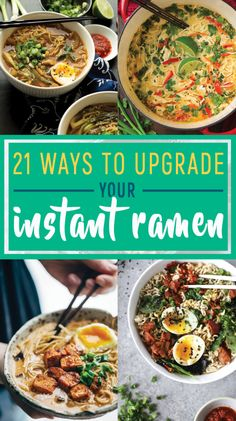 ramen noodle recipes 21 Ways To Upgrade Your Instant Ramen Top Ramen Recipes, Ramen Noodle Recipes, Asian Recipes, Soup Recipes, Dinner Recipes, Cooking Recipes, Healthy Recipes, Healthy Ramen, Easy Recipes