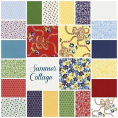 Summer Cottage 23 Fat Quarter Set - Gerri Robinson - Red Rooster
