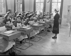 Study, study, study, @ Royal Infirmary Edinburgh - Sister Tutor Miss M. McCaskill 1956
