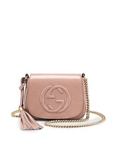 Soho Small Patent Leather Chain Shoulder Bag, Nude by Gucci at Neiman Marcus. $895.00