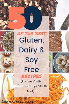 50 of the Best Gluten, Dairy and Soy free recipes for an ADHD Diet. Best Vegan and Gluten free Food. Egg Free Recipes, No Dairy Recipes, Foods With Gluten, Cookie Recipes, Allergy Free Recipes For Kids, Best Gluten Free Recipes, Milk Recipes, Detox Recipes, Allergies Alimentaires