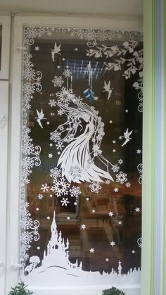 Новогодняя сказка Cricut Stencils, Paper Art, Paper Crafts, Window Art, Woodworking Jigs, Kirigami, Interior Design Living Room, Paper Cutting, Paper Flowers