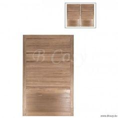 "J-Line Bedhoofd 2 delig met houten latjes louvre hout naturel 90 <span style=""font-size: 0.01pt;"">Jline-by-Jolipa-51948</span>"