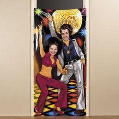 70's DISCO Door BANNER/PARTY Photo OP/Seventies/RETRO DECOR/Saturday Night Fever COUPLE