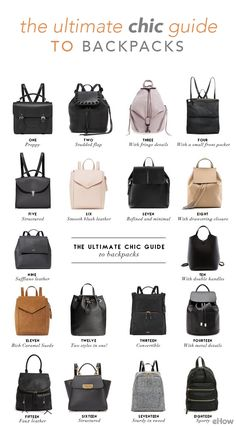 e25eea528716 A complete guide of chic and modern backpacks for the stylish girl who  needs a practical alternative to the classic tote.