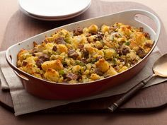 Cornbread Stuffing with Apples and Sausage from FoodNetwork.com (The Neelys)