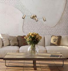 ❗Эклектика – один из модных трендов в дизайне интерьеров. Сочетание брутальной кирпично-бетонный стены и классического современного дивана подчеркнуто столь же эклектичным по своему стилю 🌟бра АЗУР. Этот светильник сочетает лофтовые мотивы и классическую цветовую гамму с оригинальной узорной перфорацией.👍  В интерьере 🌟бра АЗУР: https://mw-light.ru/spot-mw-light-azur-540021104.html 💰Цена со скидкой: 4 210 рублей.  #Бра #СветильникиНастенные #lamps #декор #homedesign #fztyrt…