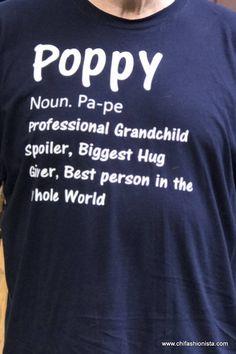 Poppy Shirt/ Grandparent's Shirt/ Grandpa Shirt/
