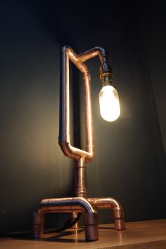 Hand made copper pipe lamps