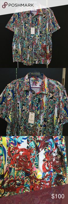 Robert Graham Classic Fit Style: Terraferma zshirt Robert Graham Classic Fit designer multi color shirt.  Style: TERRAFERMA.  Brilliant colors in the timeless relaxed fit that continue the heritage of tradition ease and comfort.  Calling all COLLECTORS. Robert Graham Shirts Casual Button Down Shirts