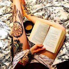 dreamcatcher tattoo - love thigh tattoos