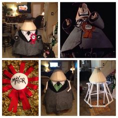 My Diy Mayor of Halloween Town from Nightmare before Christmas is almost done. I will be posting the finished Mayor and hopefully the instructions and cut list for pvc and some templates for costume.
