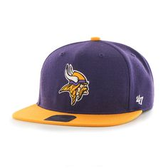 Minnesota Vikings Lil Shot Two Tone Captain Purple 47 Brand YOUTH Hat 3c2367670