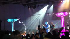 Maker Faire 2012 - Tesla Coil Rock Concert by ArcAttack (with slow-m