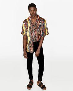 에스닉 패턴 셔츠 Ethnic Print, Printed Shirts, Kimono Top, Spring Summer, Casual, Tops, Style, Fashion, Zara Man