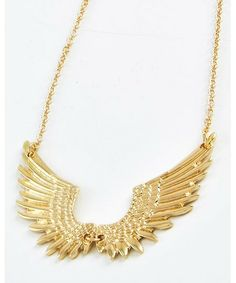 443453 Gold Tone / Lead&nickel Compliant / Metal / Angel Wing / Necklace
