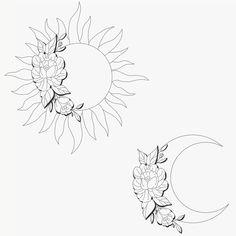 ideas for tattoo ideas moon inspiration - Tattoos Bff Tattoos, Tattoos Hipster, Simbolos Tattoo, Form Tattoo, Bestie Tattoo, Shape Tattoo, Cute Tattoos, Beautiful Tattoos, Body Art Tattoos